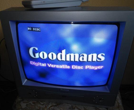 TV Goodmans telewizor z wbudowanym odtwarzacz DVD i pilot 14cali