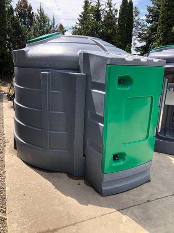 5000l Zbiornik dwupłaszczowy do paliwa z dużą szafą