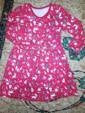 Праздничное новогоднее платье на 2-3года matalan-120грн.