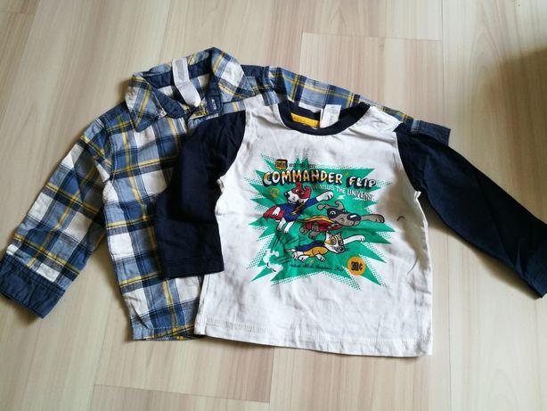 C&A zestaw komplet koszula bluzka z długim rękawem 68/74