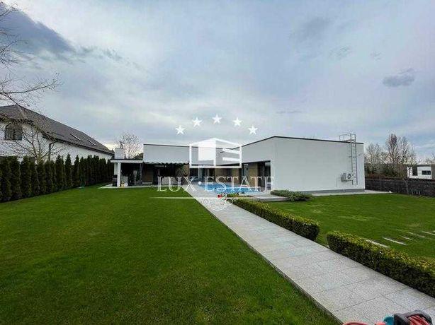 Одноэтажный дом в стиле Hi-Tech с ремонтом, бассейном Гореничи БЕЗ %!