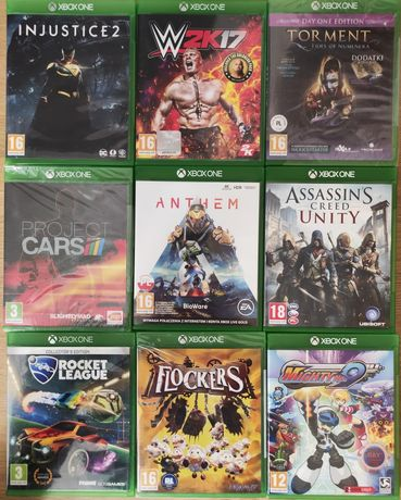 Gry Xbox one Rocket Flockers Mighty Anthem Injustice Assassin's Tormen