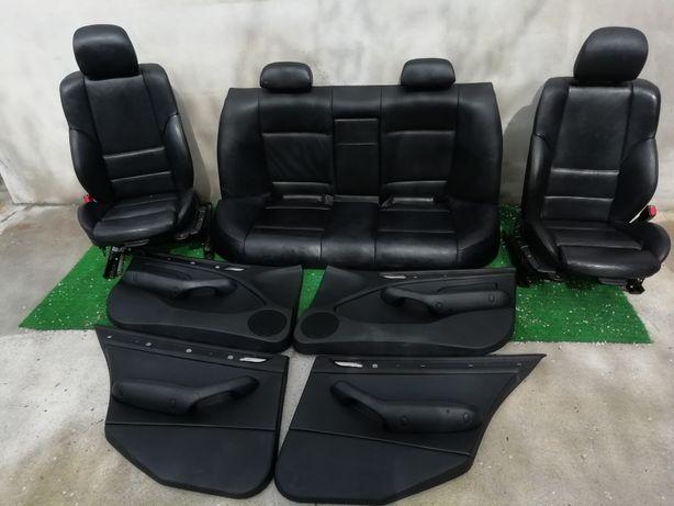 Bancos Bmw pack m pele preta para E46 Versão sedan impecáveis