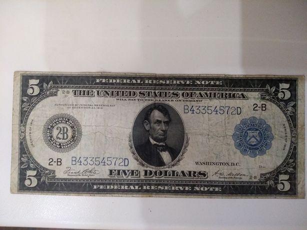 5 долларов 1914 года