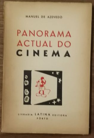 panorama actual do cinema, manuel de azevedo, livraria latina