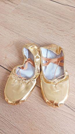 Baletki, balerinki, baleriny do tańca- złote, rozmiar 32