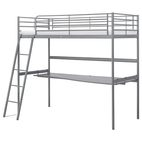 Łóżko na antresoli z biurkiem Ikea Svarta