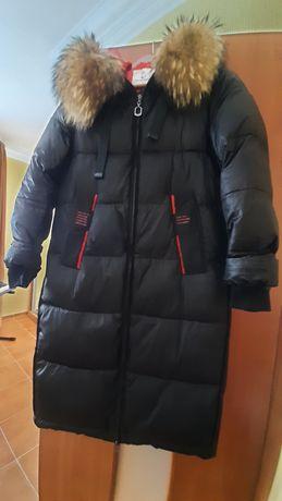 Пальто зимнее с мехом натуральным