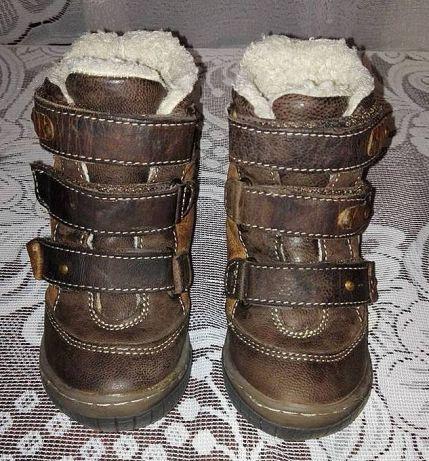 LASOCKI kozaki zimowe,buty SKÓRA Naturalna brązowe Stan IDEALNY 22