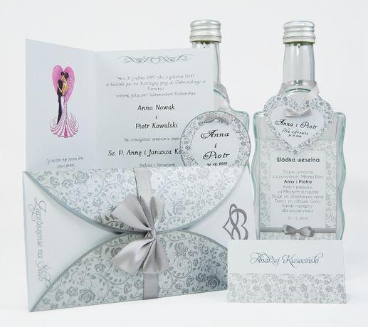 Zaproszenia ślubne - kolekcja FLORAL SILVER + koperta