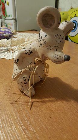 Mysz figurka ceramiczna
