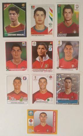 Lote de cromos do Cristiano Ronaldo Europeus e Mundiais