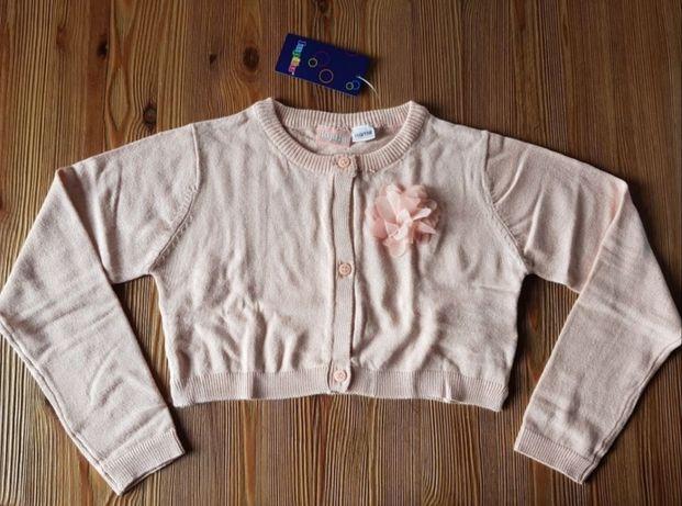 Sweterek typu cardigan, bolerko dziewczynka 110/116 cm
