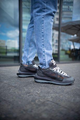 Мужские кроссовки Nike x sacai VaporWaffle найк серые найк 41-45