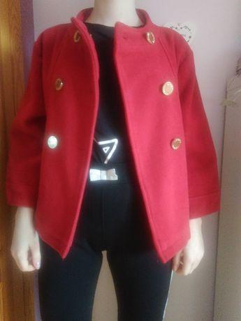 Wiosenny płaszcz z flauszu na 10-13 lat