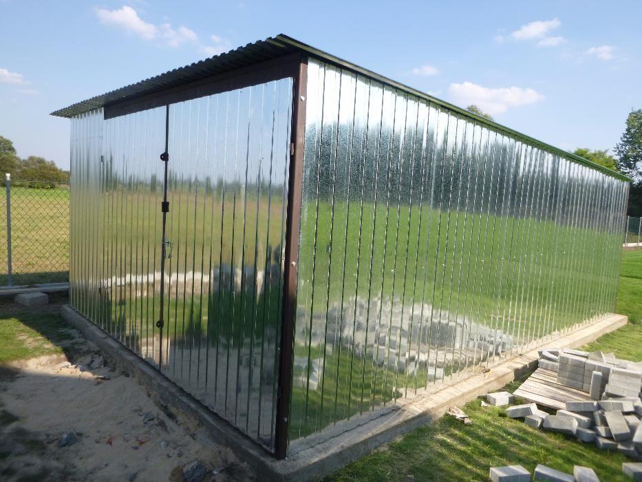 Garaż blaszany 3x5 Blaszak na budowę Schowek budowlany Montaż GRATIS