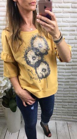 Bluza bawełna dmuchawce Nowa rozmiar 40