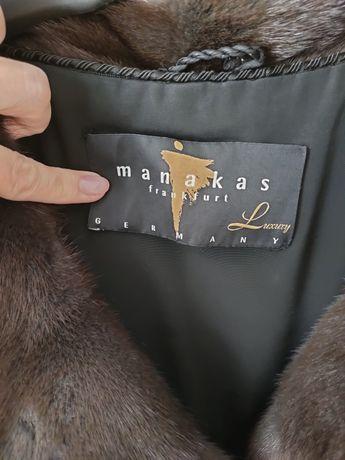 Шуба норковая шикаррррная,  с кожаным поясом