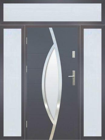 Drzwi z naświetlami Wikęd Termo Prestige 86mm wymiar 1800 x 2400