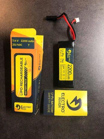 Akumulator ASG Electro River LiPo 7,4V 2200mAh 20/40C
