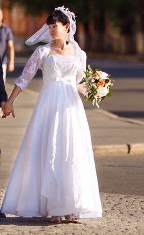 Счастливое свадебное платье+ болеро!