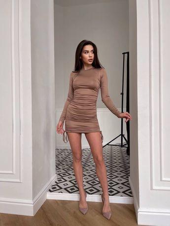 Платье с шнурками