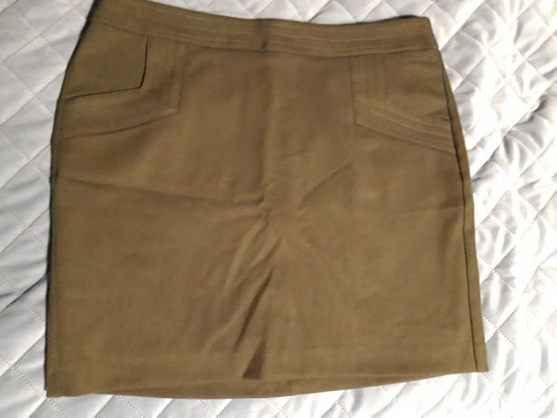 Elegancka oliwkowa spódnica Reserved 38 M nowa