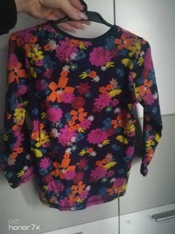 Bluzeczka w kwiaty dziewczynka