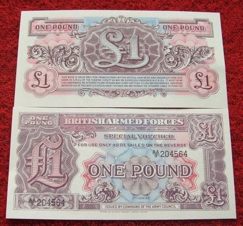 BRITISH ARMED 1 POUND 1948 ROK Kolekcjonerski Banknot - 1 szt. UNC