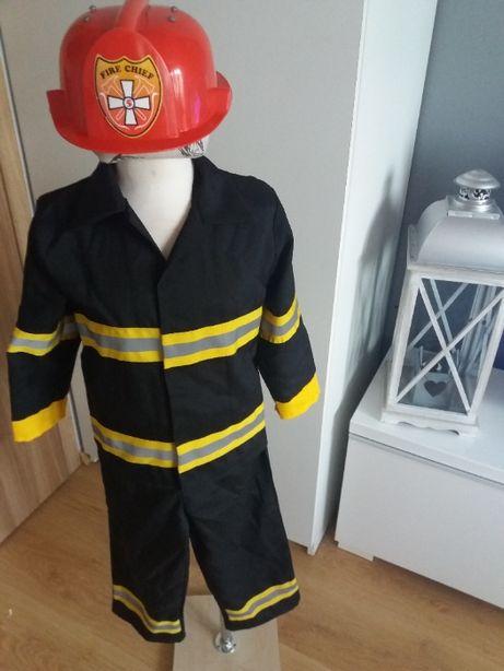 Strój karnawałowy STRAŻAK STRAŻAKA kostium przebranie98/104 110/116 3