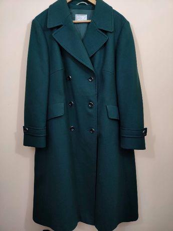 Wełniany płaszcz zimowy XXL