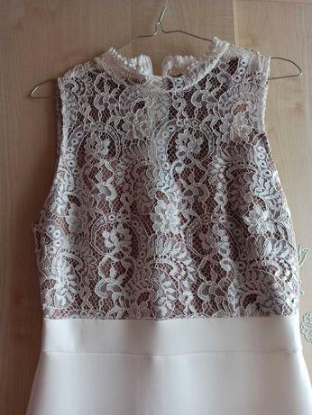 Długa sukienka biała, rozmiar L