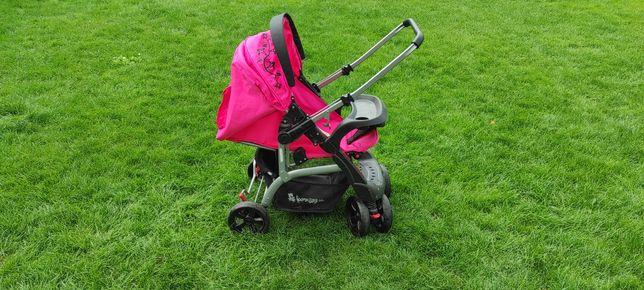 Wózek różowy piękny