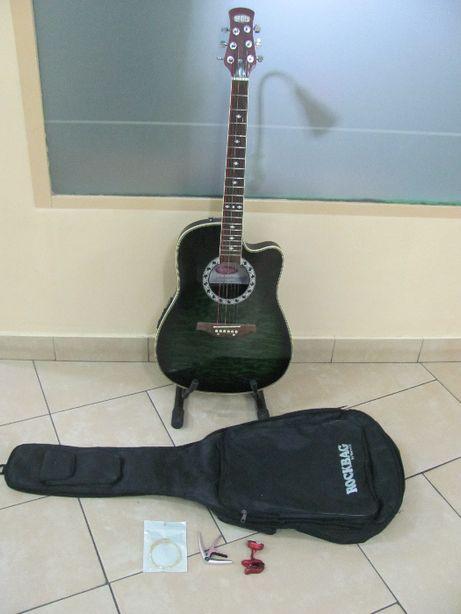 GITARA Stagg A4006 BLS elektro-akustyczna + Dodatki