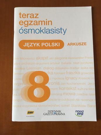 """Arkusze egzaminacyje j.polski """"Teraz egzamin ósmoklasisty"""" - nowa era"""