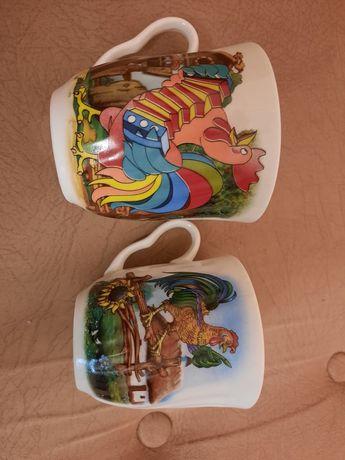 Чашки с петушками