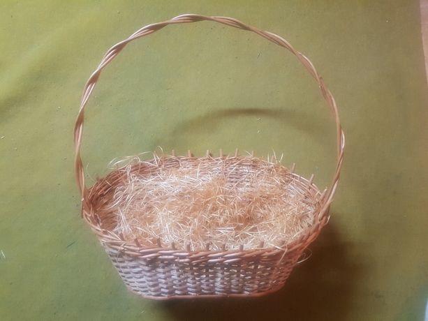 Koszyk wiklinowy z wyściółką