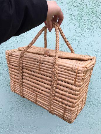 Плетенная сумка, сумка из ротанга
