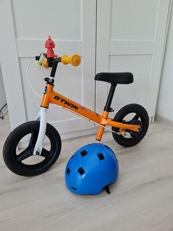 """Rowerek biegowy 10"""" B`twin+ kask"""
