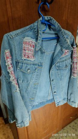 Куртка джинсовая на девочк