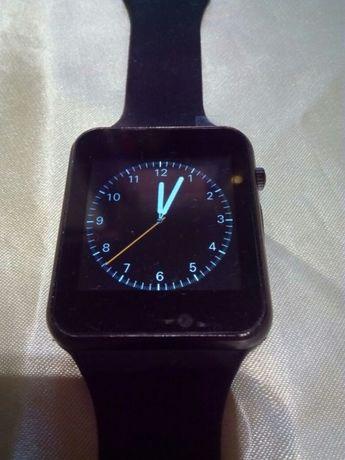 Smart Watch A1 com telefone corpo metálico e bracelete em silicone