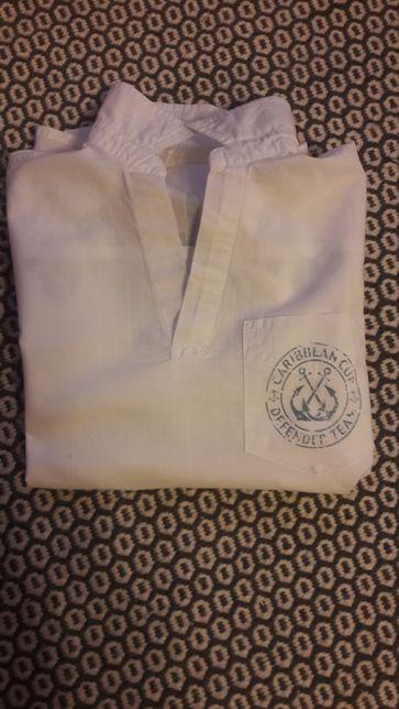 Koszula chłopięca, polo, biała marynistyczna roz.110