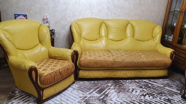 Кожаная мебель бу