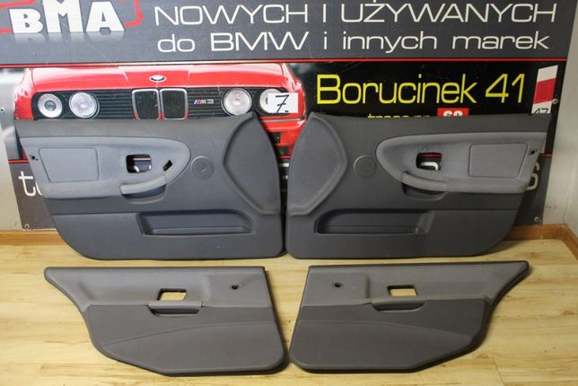 BMW E36 Boczki Tapicerka Drzwi Kombi Jasno Szare Polift Części BMA