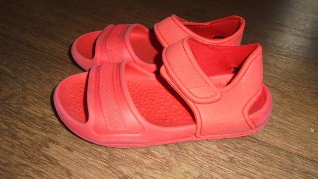 Легкие босоножки тапочки мягкие красные удобные пляжные NEXT липучки