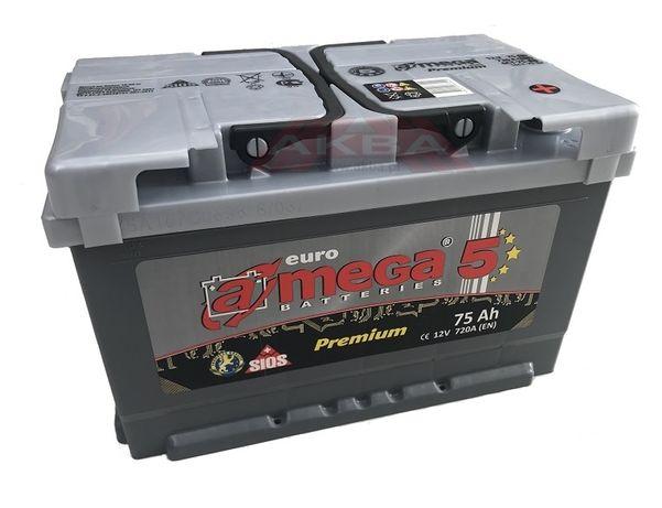 Akumulator Amega Premium M5 75Ah 720A 6ct-75-a3 75ah Zgierz Radogoszcz