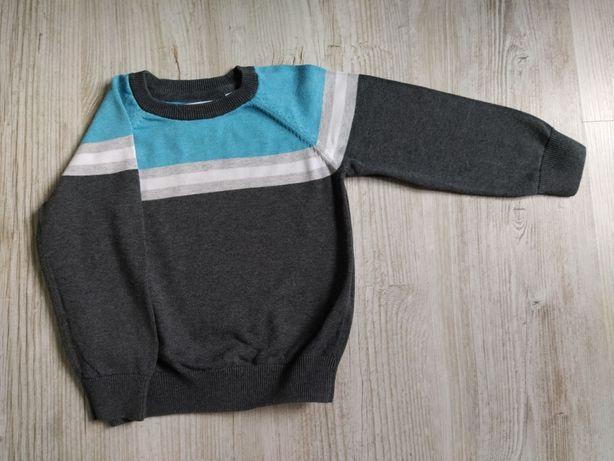 Bluza chłopięca szaro-niebieska rozmiar 110