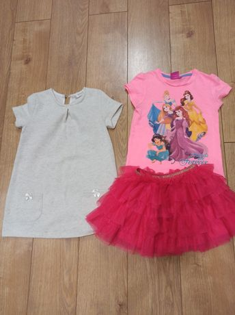 Bluzka , koszulka , spódnica , sukienka r..104