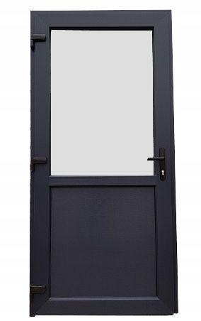 Drzwi Zewnętrzne PCV KACPRZAK antracyt 90x210 lewe