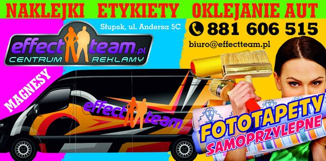 Haft Naklejki Etykiety Oklejanie Aut Magnesy Fototapety reklama